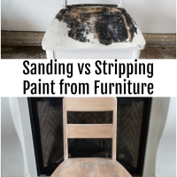 Refinishing Furniture – Sanding versus Stripping + Video