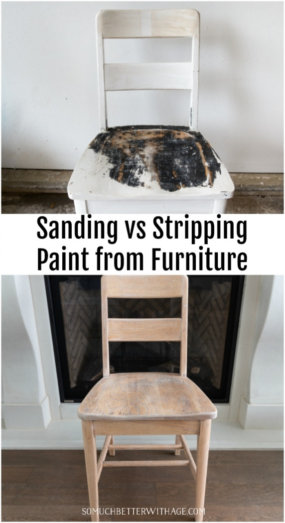 Sanding vs. Stripping Paint from Furniture.