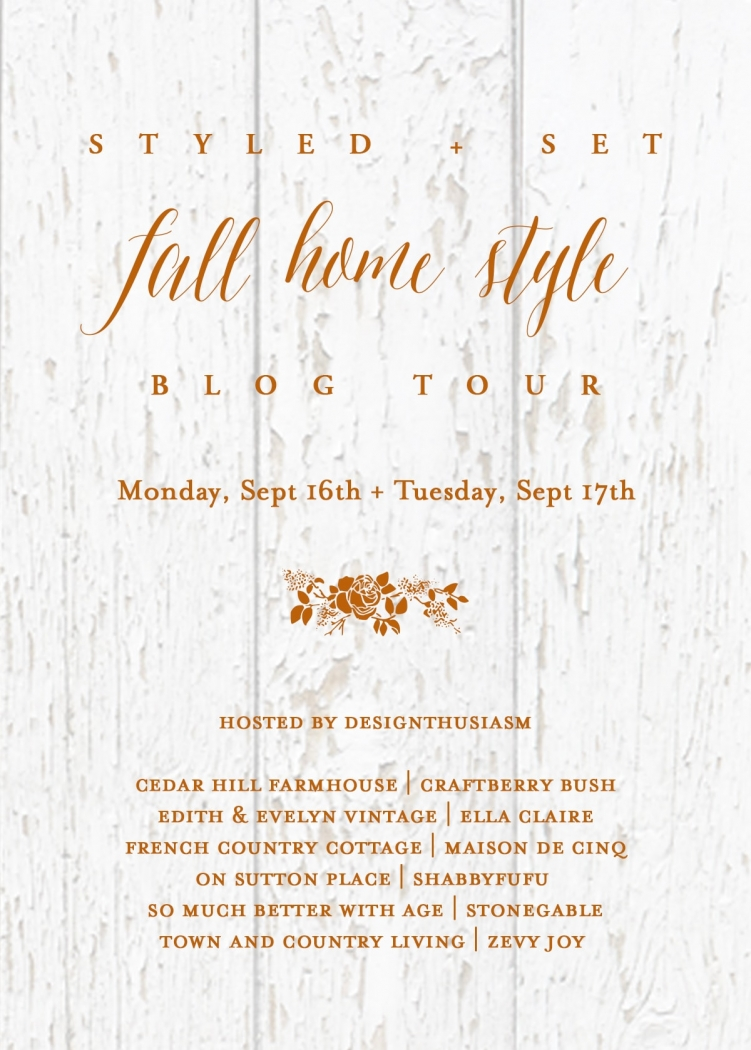 Styled and set Fall Home Style poster.