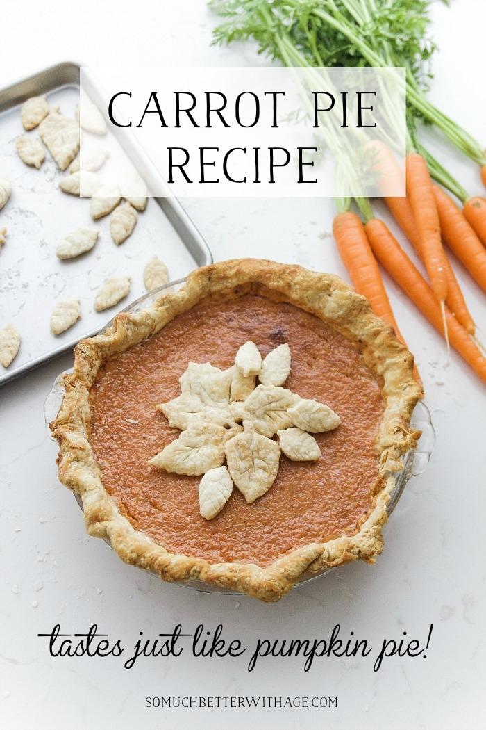 Carrot Pie Recipe (tastes like pumpkin pie).