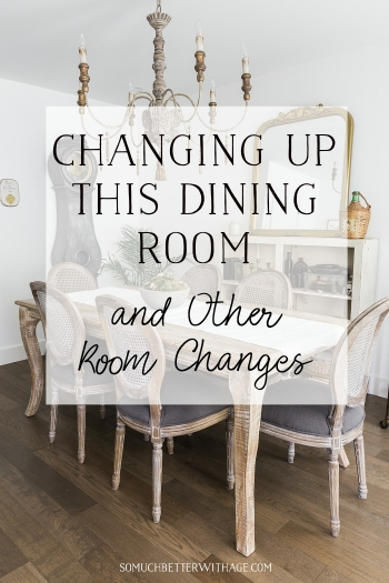 Changing up this dining room and other room changes.