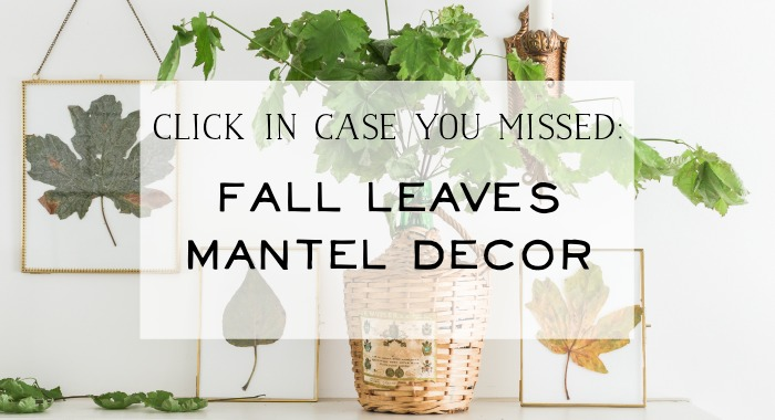 Fall Leaves Mantel Decor poster.