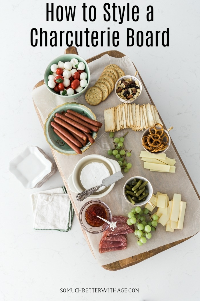 How to style a charcuterie board graphic.