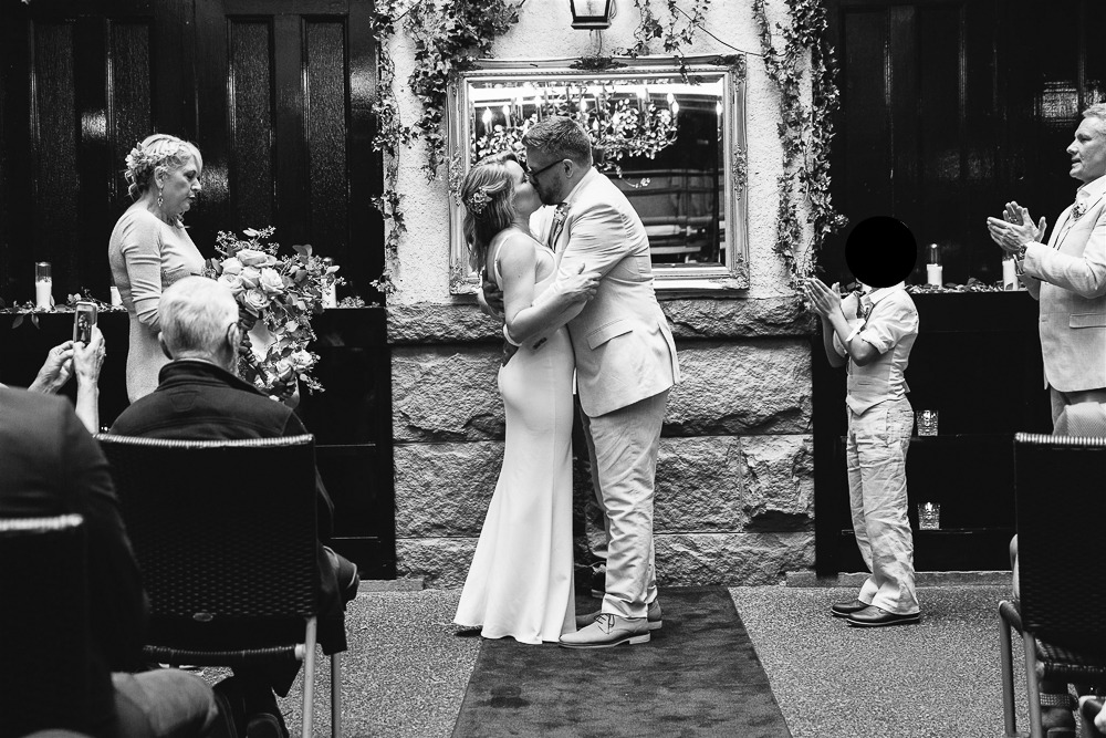 The kiss at the altar.