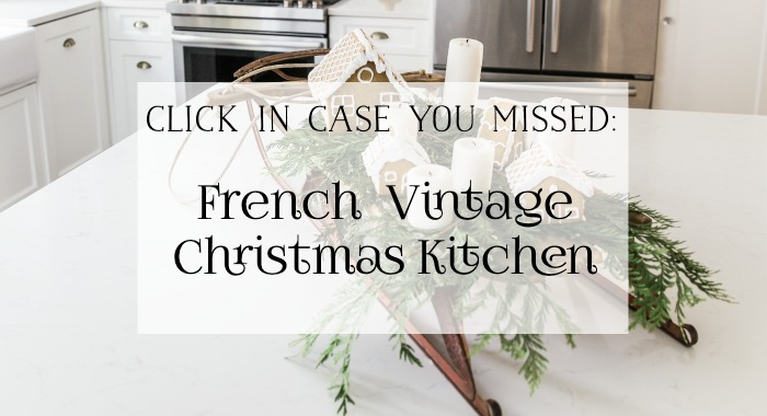 French Vintage Christmas Kitchen graphic.
