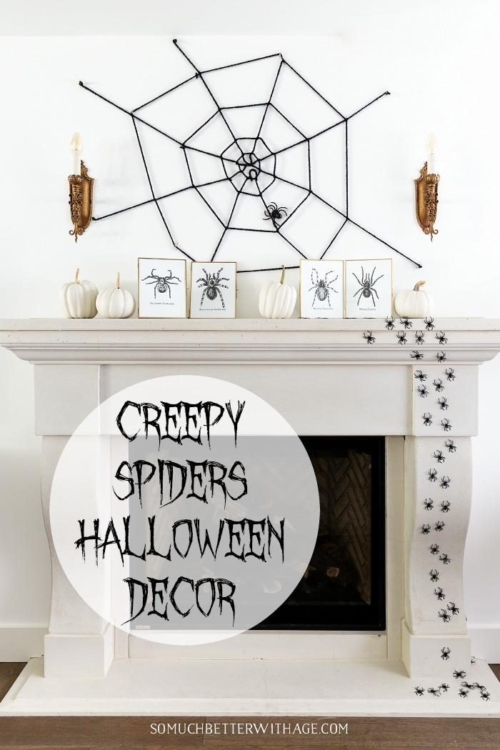 Creepy Spiders Halloween Decor.