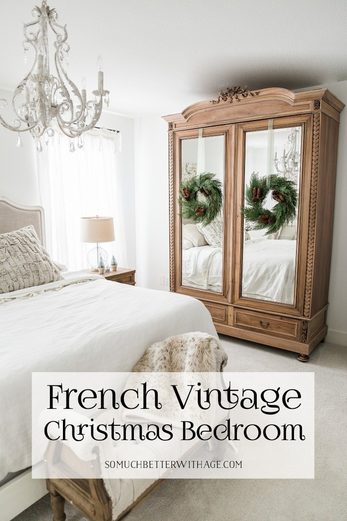 French Vintage Christmas Bedroom.
