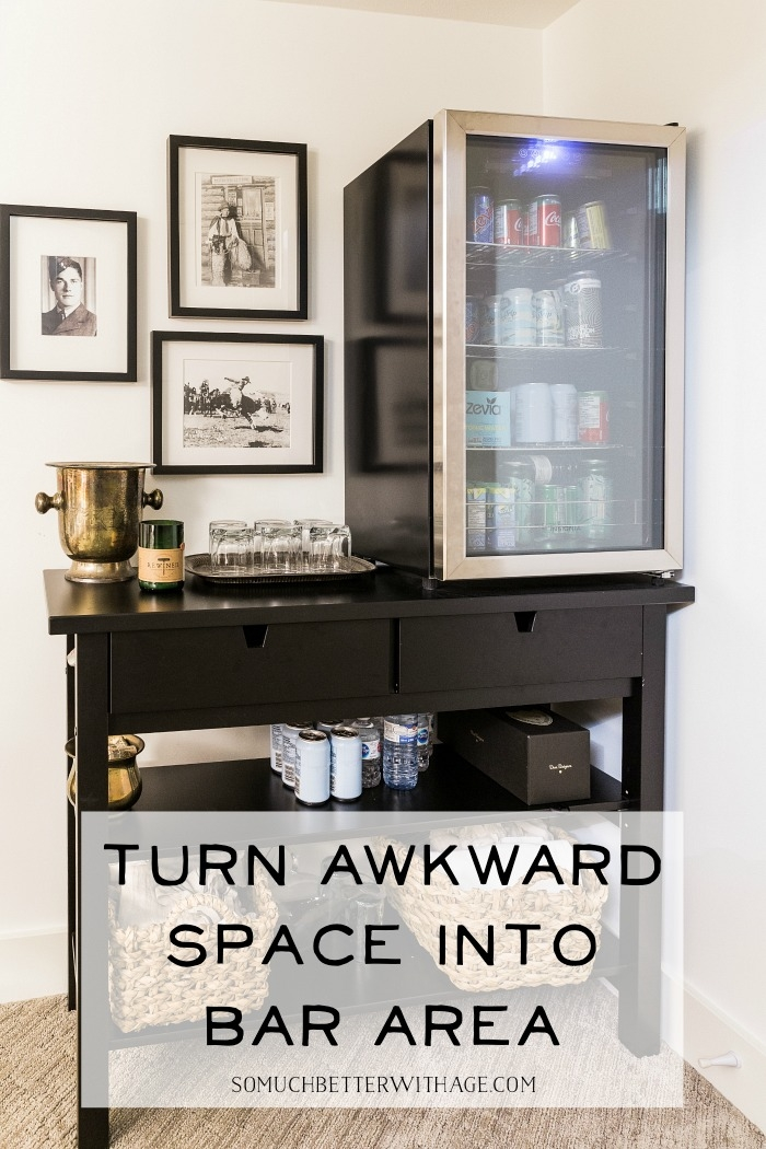 Turn awkward space into a bar area.