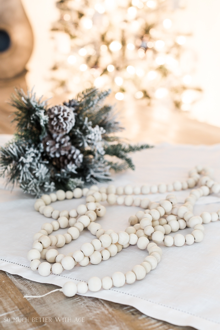 Diy Wood Bead Christmas Garland So Much Better With Age