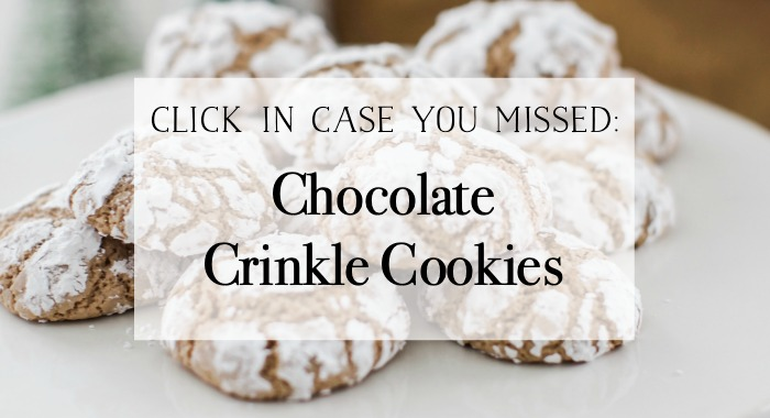 Chocolate Crinkle Cookies graphic.