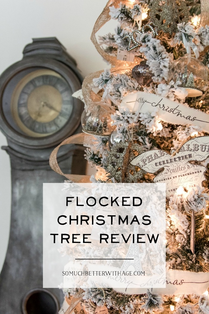 Flocked Christmas Tree Review.