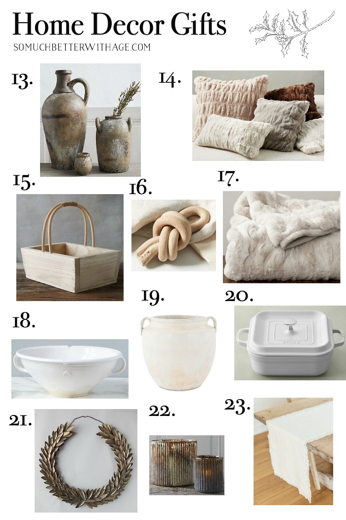 Gifts for the Home Decor Lover.