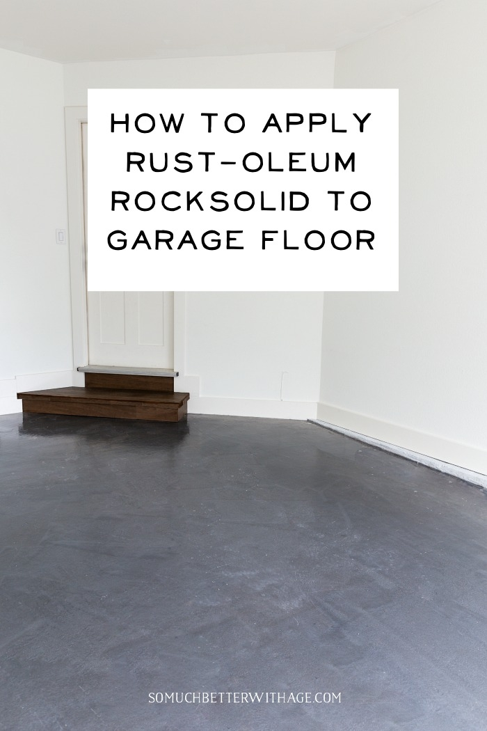 How to Apply Rust-oleum Rocksolid to Garage Floor