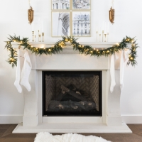How to Hang Lighted Garland on the Mantel + Video