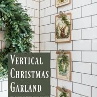 Vintage Vertical Christmas Garland