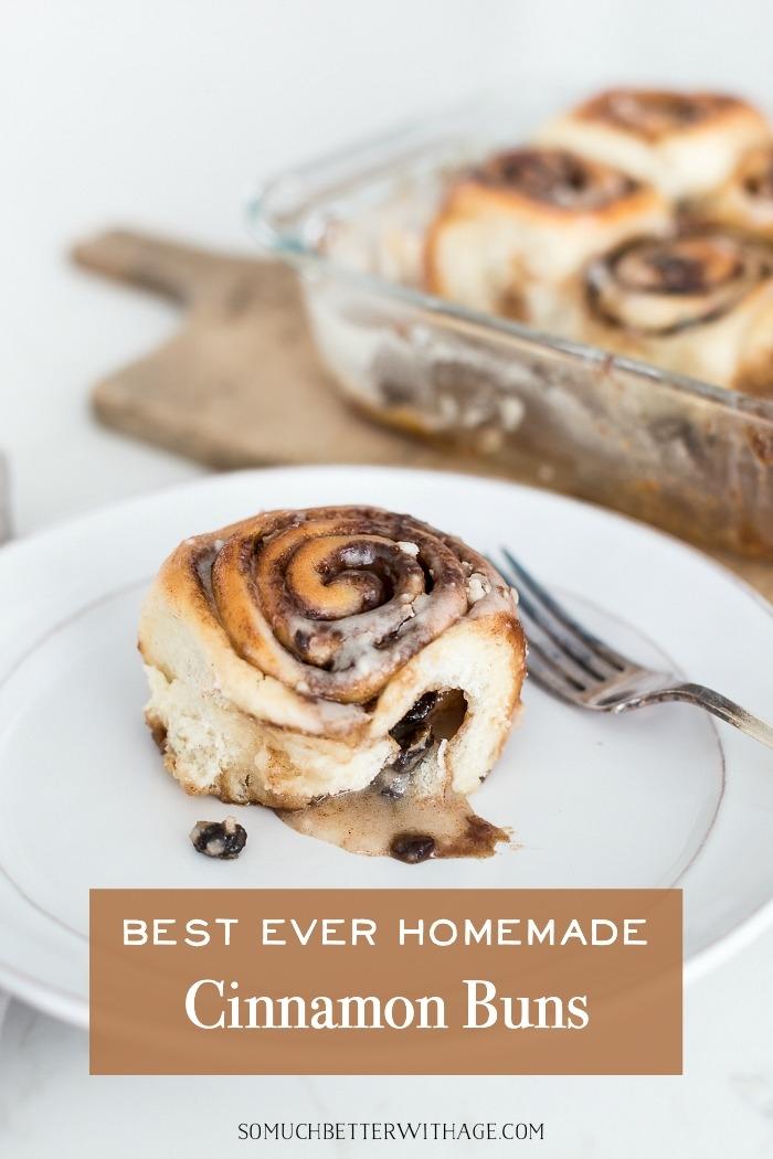 Best Ever Homemade Cinnamon Buns.