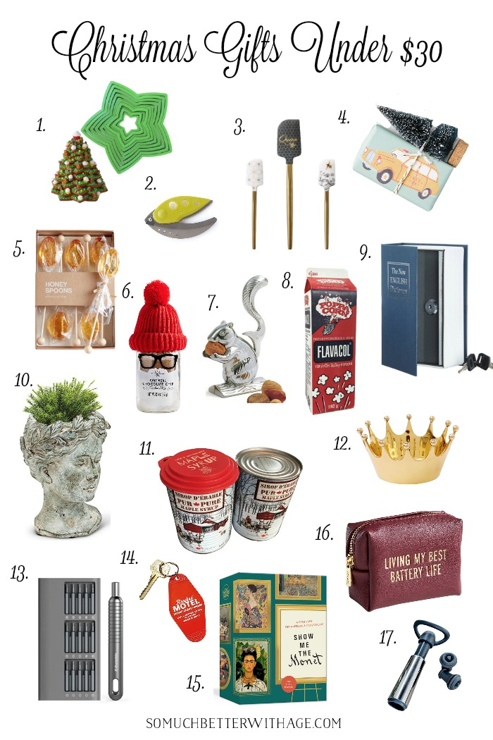 Christmas gifts and stocking stuffers under $30.