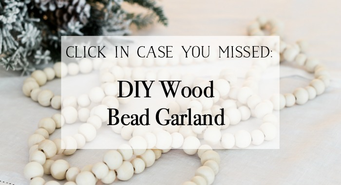 DIY Wood Bead Garland poster.