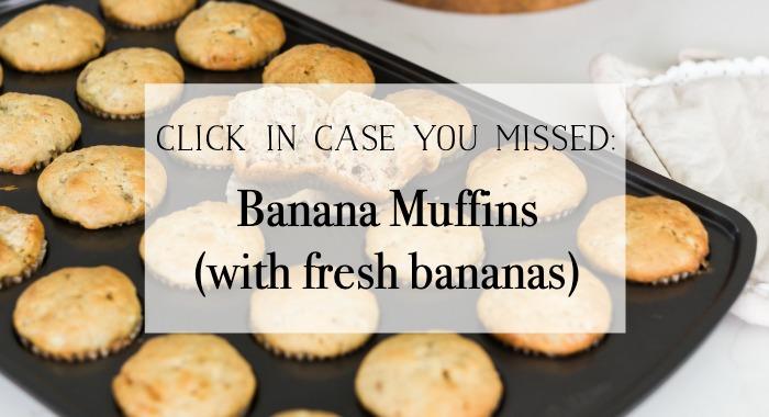 Banana Muffins graphic.