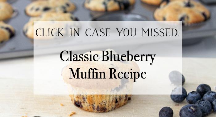 Classic Blueberry Muffin Recipe poster.