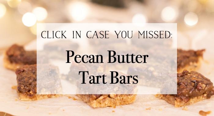 Pecan Butter Tart Bars graphic.