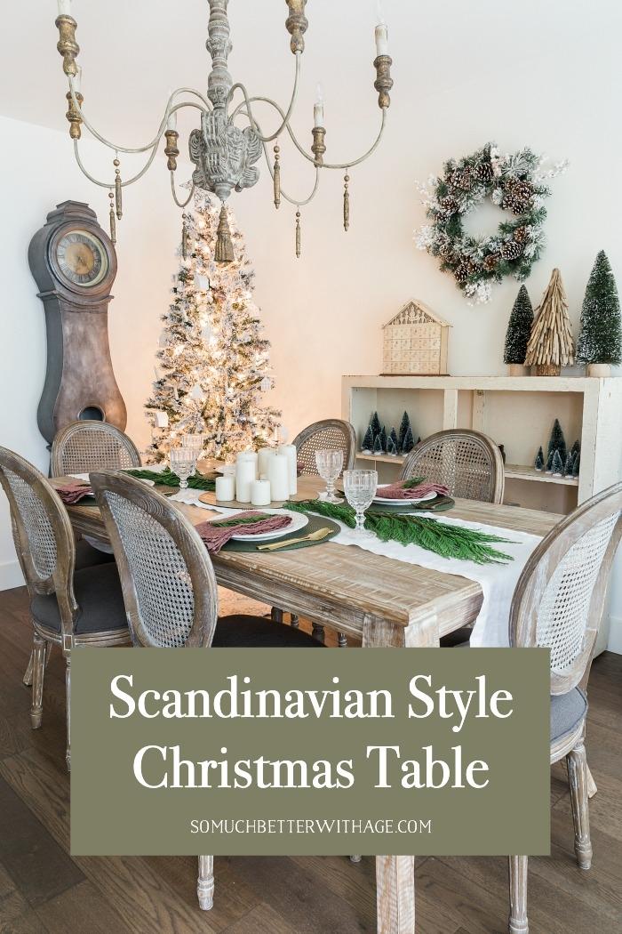 Scandinavian Style Christmas Table.
