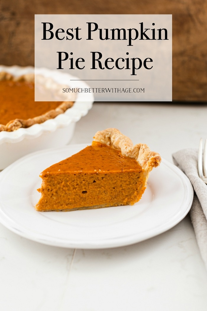 Best Pumpkin Pie Recipe.
