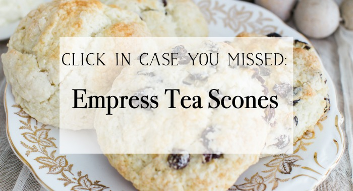 Empress Tea Scones graphic.