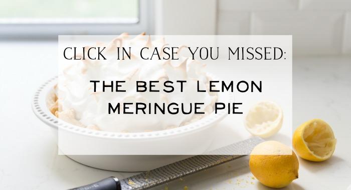 The Best Lemon Meringue Pie graphic.