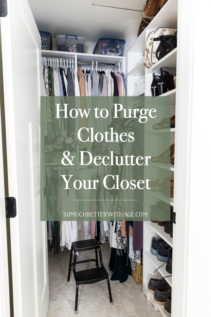 How to Purge Clothes and Declutter Your Closet