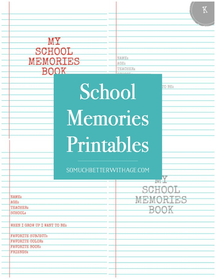 School Memories Printables