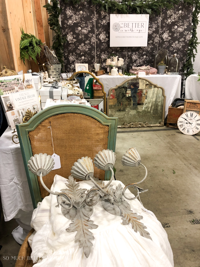 Beautiful vintage items on display at a market.