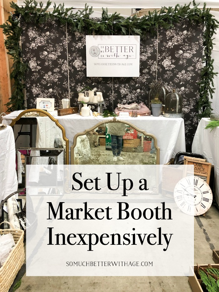 Set Up a Market Booth Inexpensively.