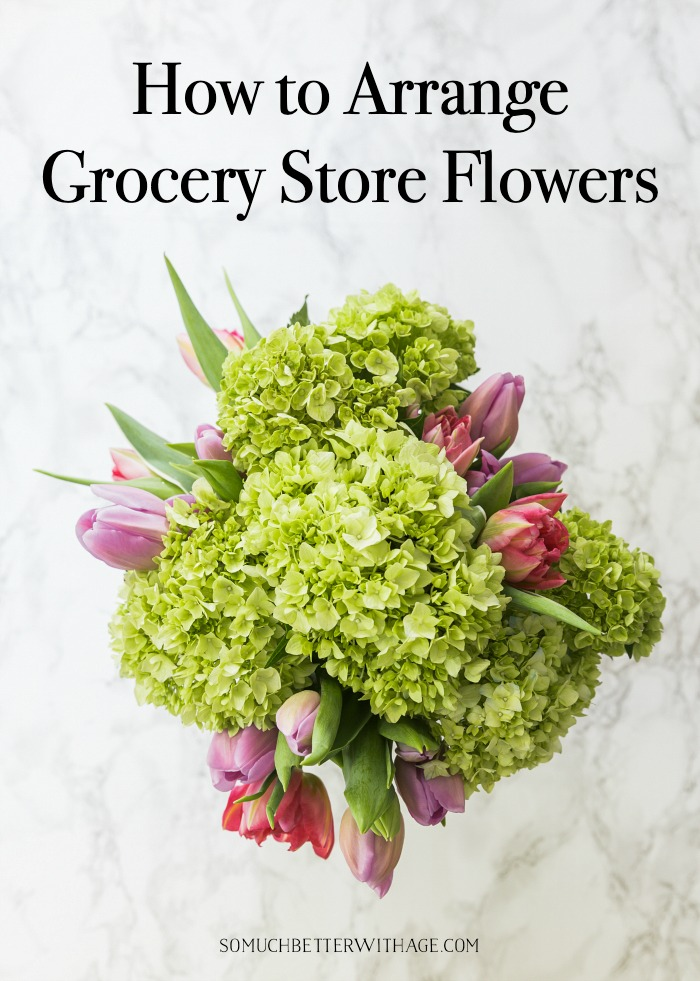 How to Arrange Grocery Store Flowers.