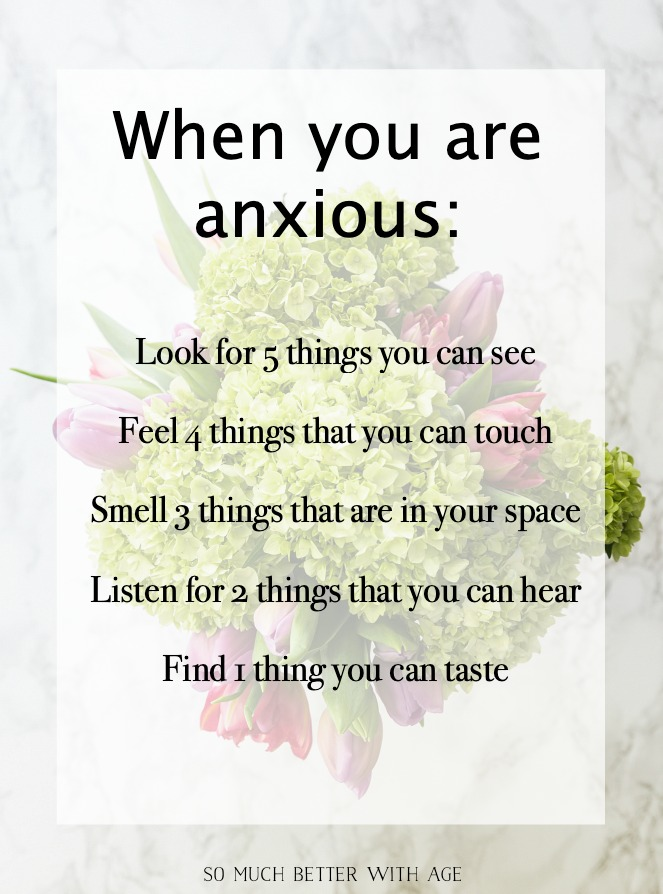 When you are anxious graphic.