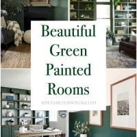 Beautiful Green Painted Room Inspiration for Office