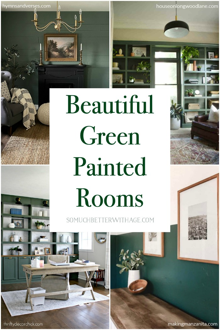 Beautiful Green Painted Room