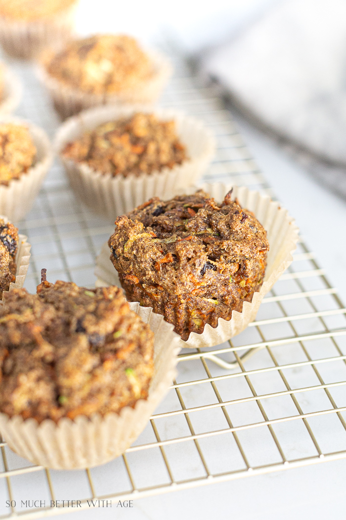 Close up of healthy muffins.