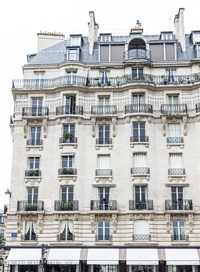 Paris apartment building.