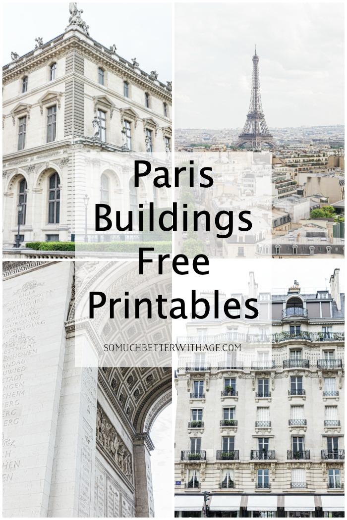 Paris Buildings Free Printables.