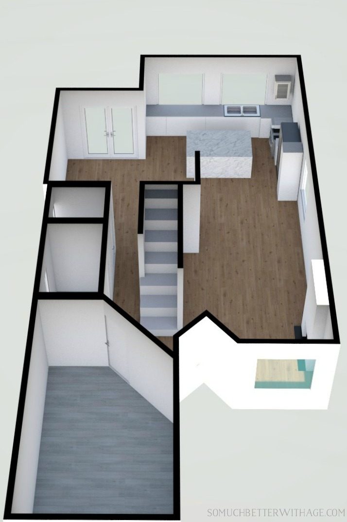 3D render of main floorplan.