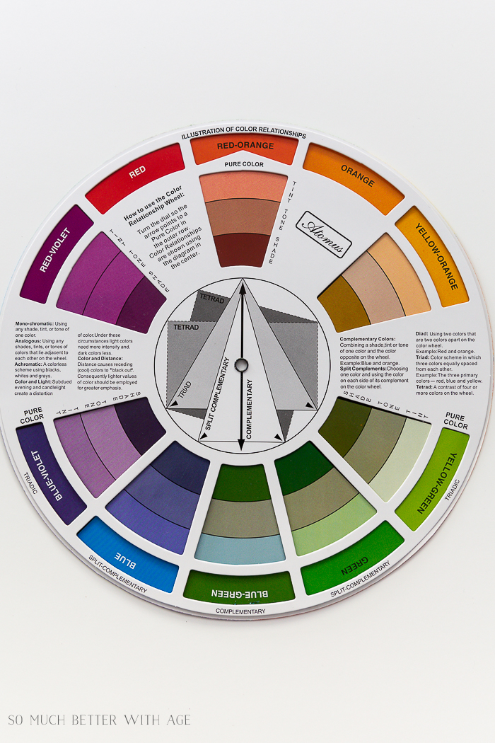 An artist's color wheel.