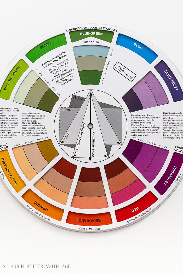 A roda de cores de um artista.