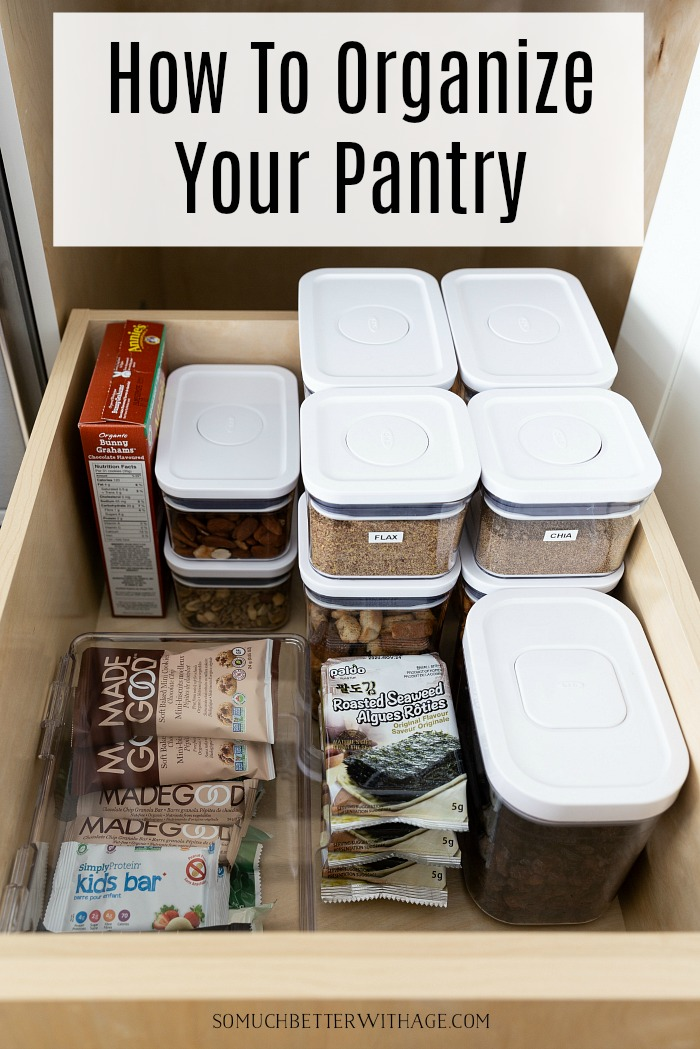 How to Organize Your Pantry with OXO Containers.
