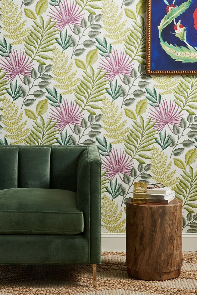 Palomas Botanical wallpaper from Anthropologie.