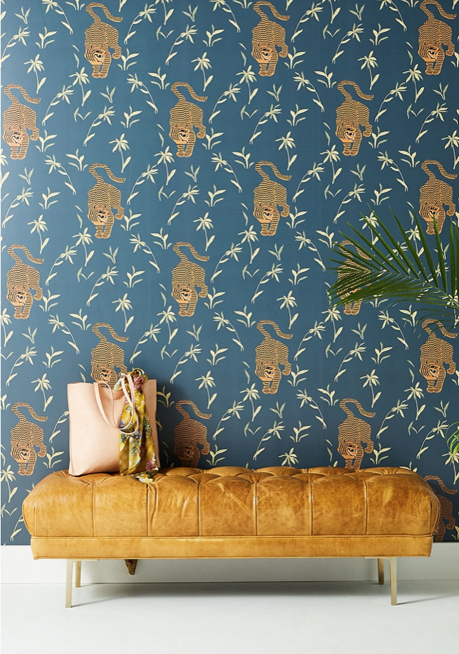 Silent Tiger wallpaper from Anthropologie.