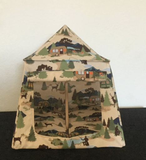 Toy camping tent from Bev's Sew Cute Boutique.