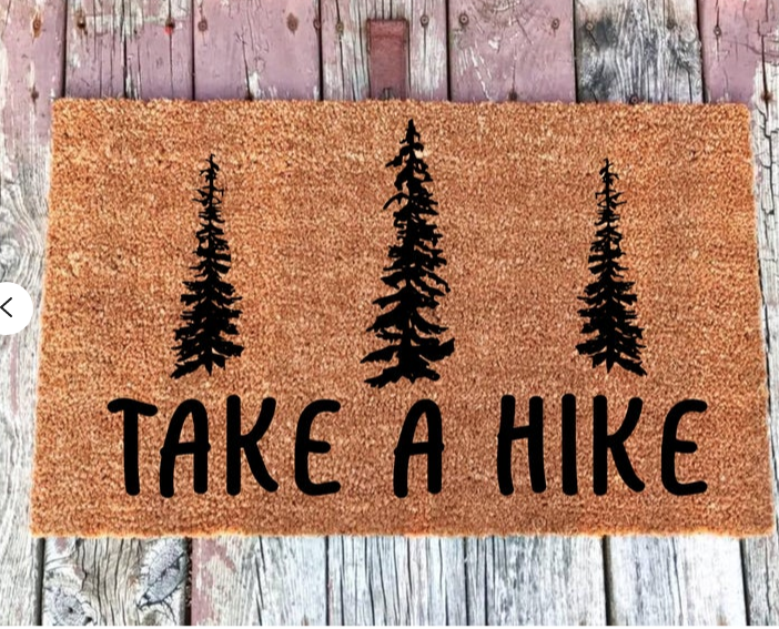 Take a Hike door mat by Franklin and Figg.