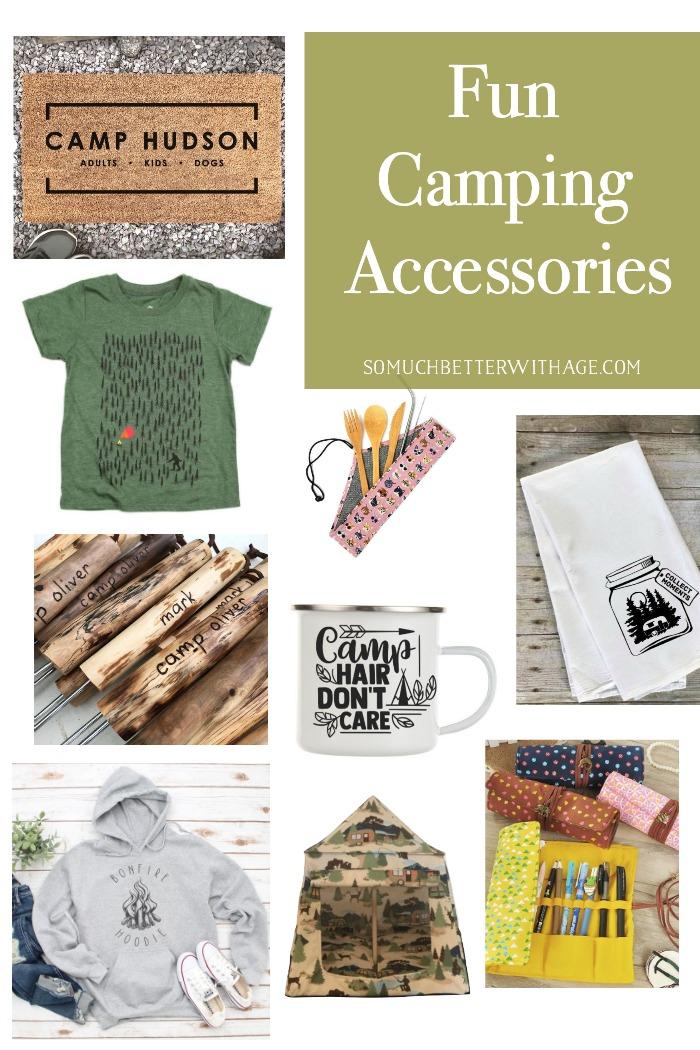Fun camping accessories.