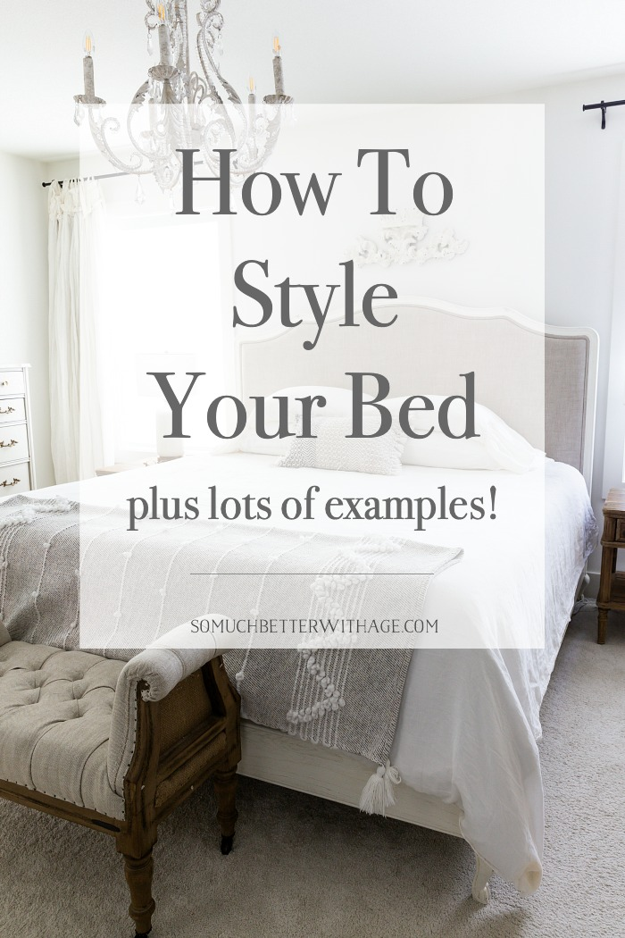 How to Style Your Bed plus lots of examples!